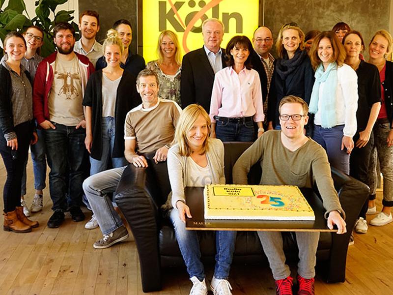 Süßer Beitrag zur Feier von Radio Köln