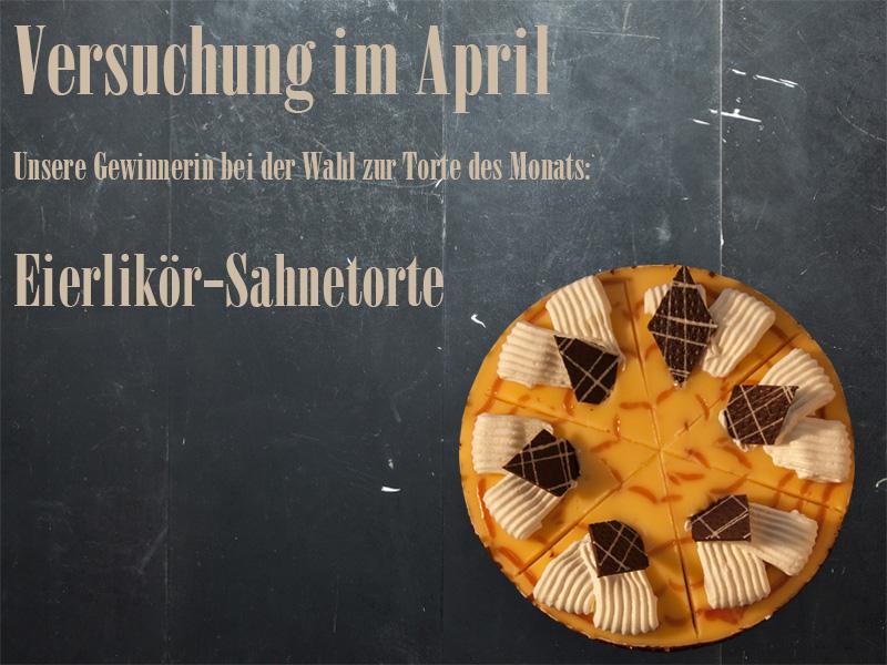 Torte des Monats April: Eierlikör trifft auf Sahne und Schokolade