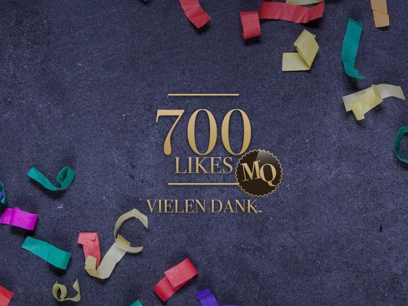 Danke für 700 Likes auf Facebook